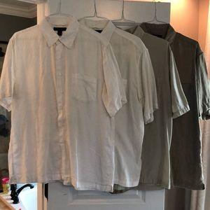 Bundle of Express short sleeve button downs, XL